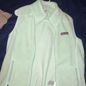 Vineyard Vines seafoam green fleece vest